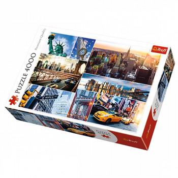 Puzzle TREFL New York City, Collage 4000