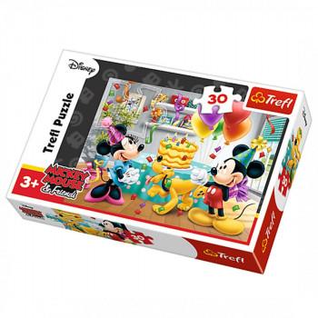 Puzzle TREFL Mickey Mouse Birthday cake 30