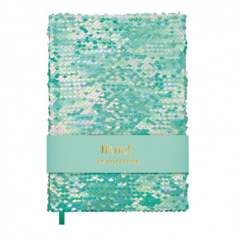 Notes A5 SEQUINS MINT