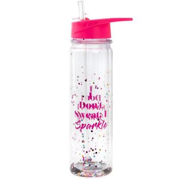 GLITTER DON'T SWEAT Plastična boca za vodu