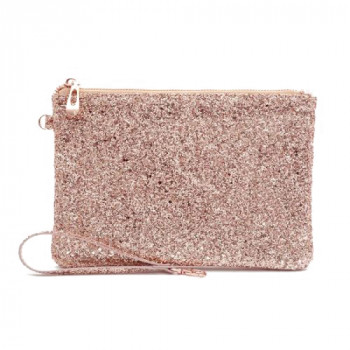 Neseser ALL THAT GLITTERS POUCH ROSE GOLD SEQUIN