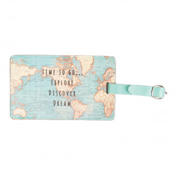 Tag za putnu torbu VINTAGE MAP Time to Go