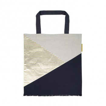 Torba WHITE NAVY GOLDEN LINES