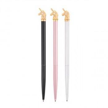 Set hemisjkih olovki sa figuricom jednoroga 3 Boje