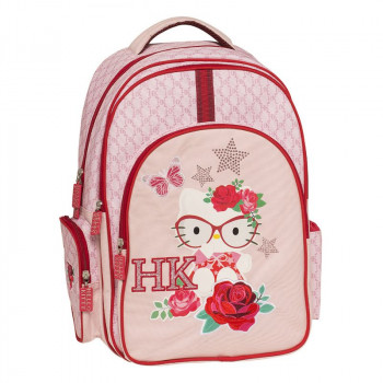 Ranac sa tri pregrade HELLO KITTY PINK Graffiti