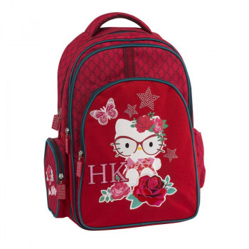 Ranac sa tri pregrade HELLO KITTY RED Graffiti