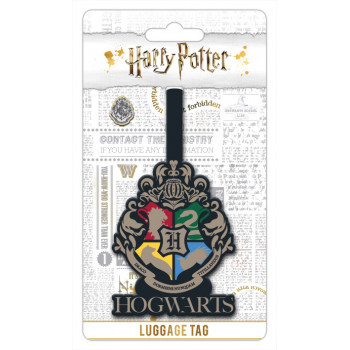 HARRY POTTER HOGWARTS CREST LUGGAGE TAG