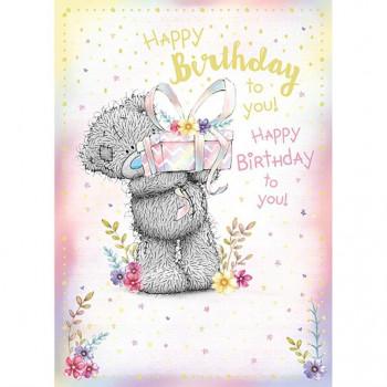 Rođendanska Čestitka OPEN BDAY BEAR HOLDING GIFT