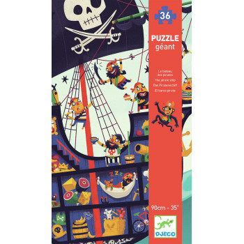 Puzzle GIANT PUZZLE THE PIRATE SHIP 36 PCS