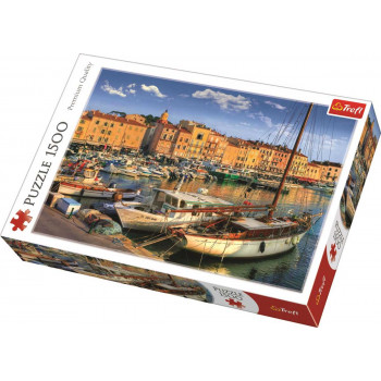 Puzzle TREFL Old Port In Saint Tropez 1500 delova