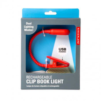 RECHARGEABLE CLIP BOOK LIGHT RED