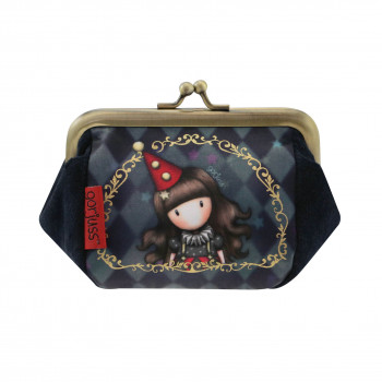 GORJUSS CIRCUS PUFFY CLASP PURSE HARLEQUIN