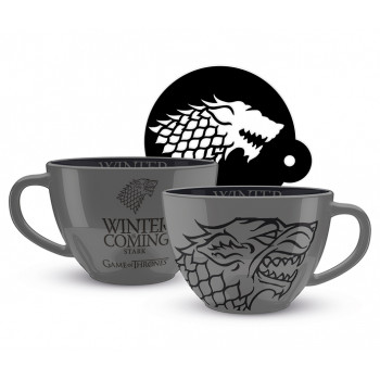 Set od 2 šolje GAME OF THRONES Stark