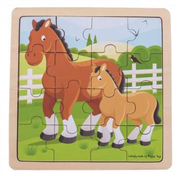 Drvene puzzle HORSE & FOAL