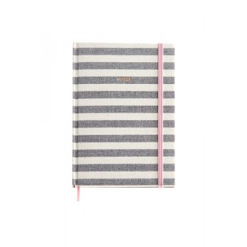 Notes A5  STRIPES ROSE GREY MR