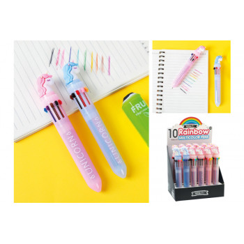 Hemijska UNICORN PENS WITH MULTICOLOR INK DISPLAY 24 PCS
