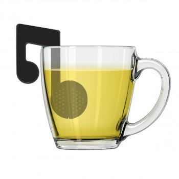 Infuzer za čaj MUSIC NOTE crni