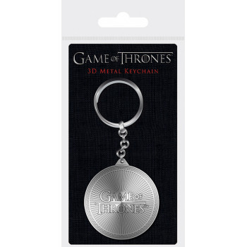 GAME OF THRONES LOGO METAL KEYCHAIN