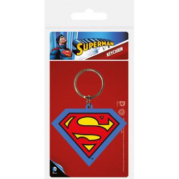 Privezak za Ključ SUPERMAN SHIELD RUBBER KEYCHAIN