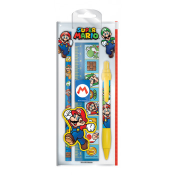 Školski Set SUPER MARIO CHARACTERS STATIONERY BAG CDU 10