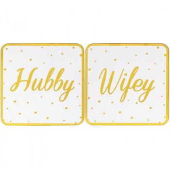 Set 2 podmetača HUBBY&WIFEY