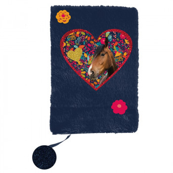 Dnevnik A5 plišani HORSE