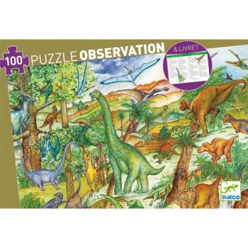 Puzzle za decu DINOSAURS 100 + Brošura