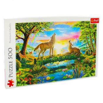 Puzzle TREFL Wolfs nature 500