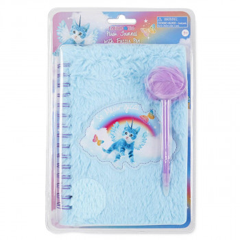 Notes PLUSH JOURNAL WITH FUZZY PEN CLAM SH