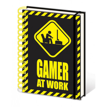 GAMER AT WORK NOTES Caution Sign