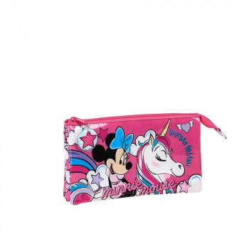 Školska Pernica PENCIL CASE TRIPLE MINNIE MOUSE UNICORNS