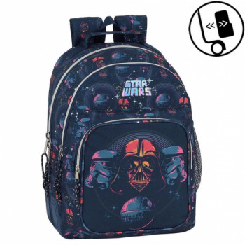 Školski Ranac DOUBLE BACKPACK REINFORCED 42 CM STAR WARS DEATH STAR