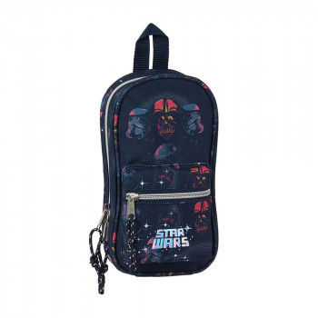 Torbica PENCIL CASE BACKPACK WITH 4 EMPTY P CASES STAR WARS DEATH STAR