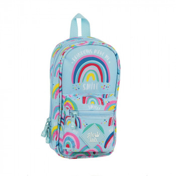Torbica PENCIL CASE BACKPACK WITH 4 EMPTY CASES RAINBOW