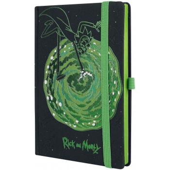 RICK AND MORTY PORTALS A5 PREMIUM NOTEBOOK