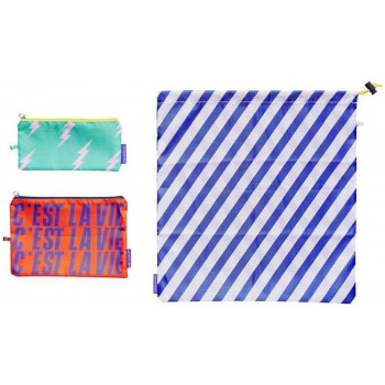 Neseser: TRAVEL POUCHES SET OF 3