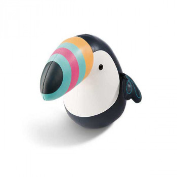 Kožni tukan u crnoj boji: TOUCAN 25CM FAUX LEATHER