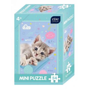Mini puzle DOG WITH CAT