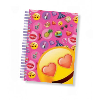 Notes sa spiralom A5 EMOJI PINK