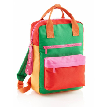 BACKPACK W/TWO COMPARTMENTS SQUARED RPET GREEN ARP