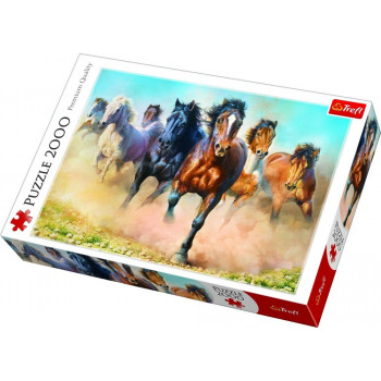 Puzzle TREFL Galloping herd of horses 2000