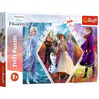 Puzzle FROZEN 2 Sisters in Frozen Land 200