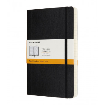 Notes A5 MOLESKINE Classic Soft, crni - linije