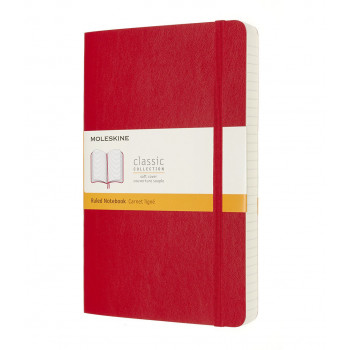 Notes A5 MOLESKINE Classic Soft, crveni