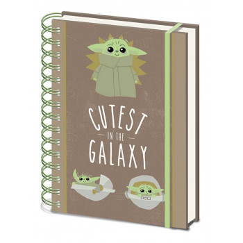 STAR WARS notes A5 THE MANDALORIAN Cutest in the galaxy