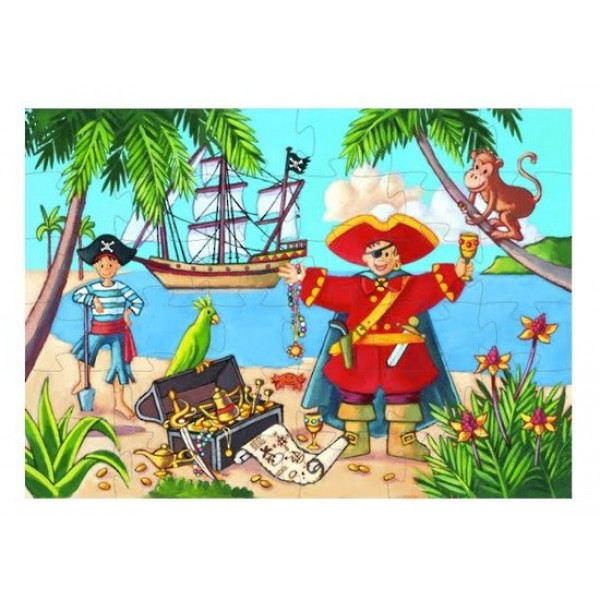Puzzle THE PIRATE AND HIS TREASURE 36 PCS