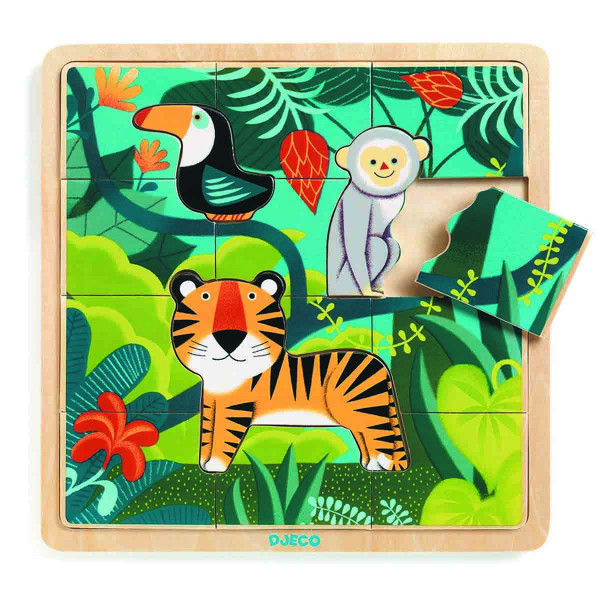 Puzzle PUZZLE BOIS PUZZLO JUNGLE