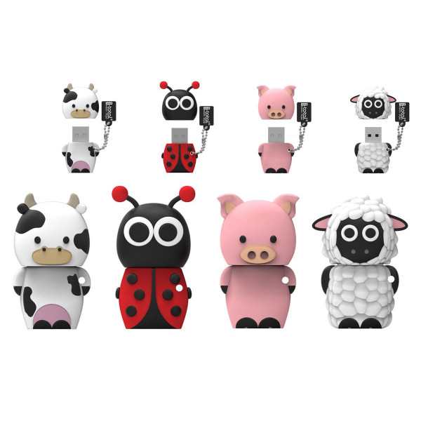 USB FARM ANIMALS USB PENDRIVE 8GB / DISPLAY 16 PCS