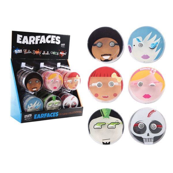 Slušalice EARFACES 6 DESIGNS