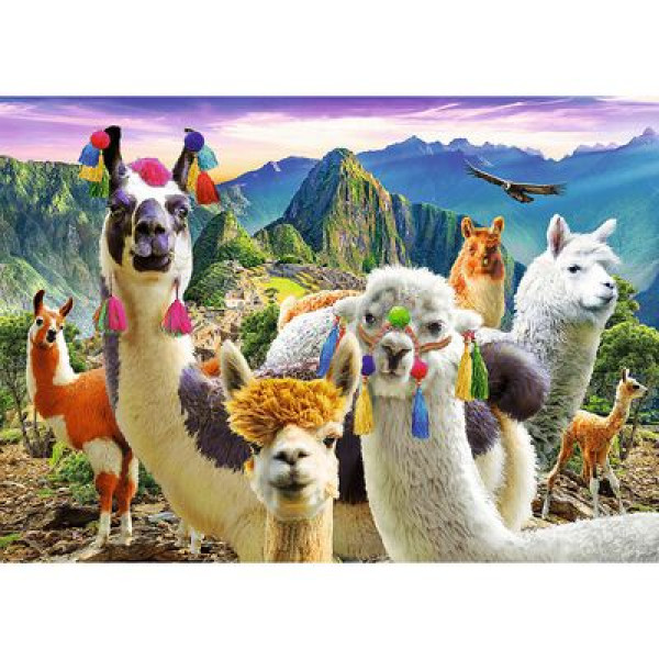 Puzzle TREFL Llamas in the mountains 500
